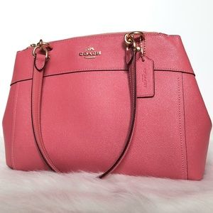 Coach Pink Sparkles Leather Tote